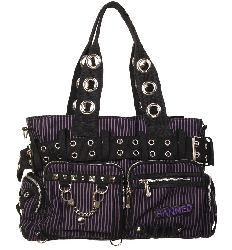 Handtasche Stripe Alternative Wear / Banned