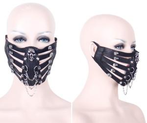Gothic Gesichtsmaske Totenkopf