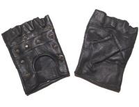 Lederhandschuhe Spitznieten/Fingerlinge