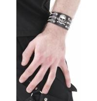 Leder Armband Totenkopf Dead Threads