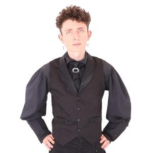 Gothic Krawatte mit Brosche