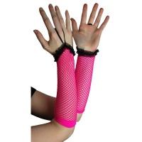 Netzstulpen pink Poizen Industries