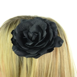 Haarspange Black Rose