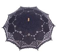 Spitzenschirm/Gothicschirm Pentagramme
