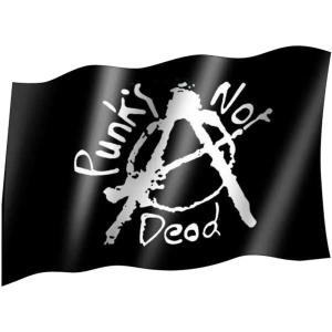 Posterfahne Punks not Dead