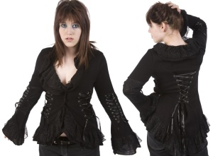 Gothic Strickjacke Spinnennetz Poizen Industries