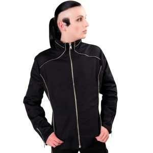 Herrenjacke im Gothicstil Zip Cardy Aderlass
