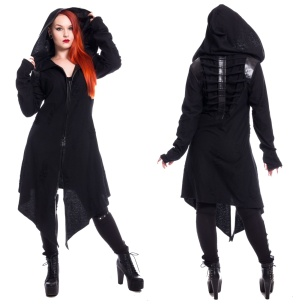 Arch Angel Cardigan im Gothicstil Chemical Black