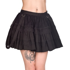 Sibyl Mini Skirt Denim Black Pistols