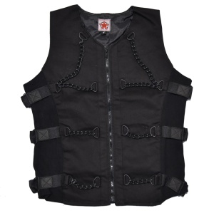 Chain Vest Denim Black Pistol