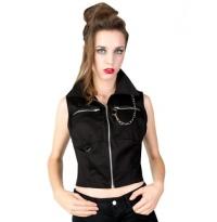 Punky Vest Denim/Punkweste Black Pistol