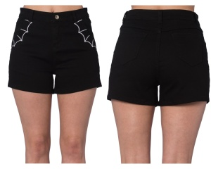 Damen Sixties Short Spinnenetz Banned