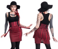 Pencilskirt Bleistiftrock schwarz/rot gestreift Break Heartless
