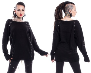 Checkout Top/Grunge Top Chemical Black