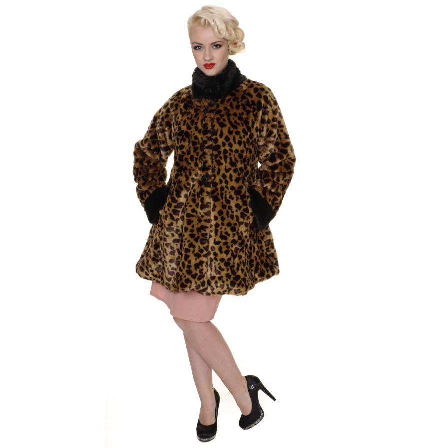 Damenmantel Leopard