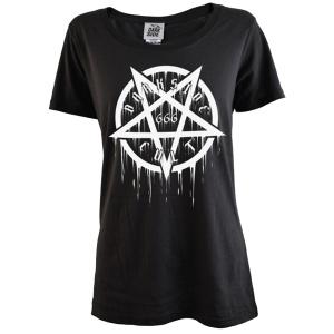 Girlshirt Pentagramm 666