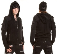 Herren Strickjacke Damned Knit Hood Vixxsin