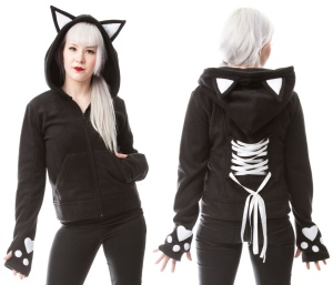 Fleecejacke bye bye Kitty Poizen Industries
