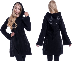 Embroidered Fleece Hood Fleecjacke mit Stickerei Innocent Clothing