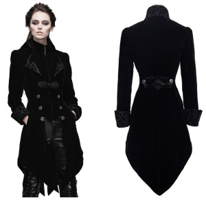 Gothic Damen Frack Samt Devil Fashion