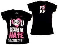 Girl Tshirt Because we hate the same Stuff Killerpanda