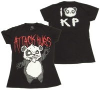 Girl Shirt Panda Attack Hugs Killer Panda
