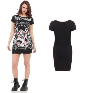 Kleid Longshirt Skeleton Jawbreaker