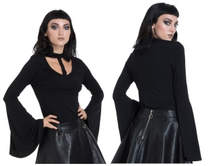 Gothic Shirt Trompetenärmel Jawbreaker