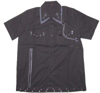 Herren Workerhemd Gothiccross Dead Threads