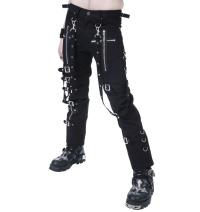 Gothic Hose mit Beinschnallen und Bondagebändern Dead Threads