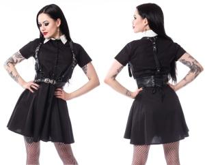 Wednesday Kleid mit Harness Madeleine Dress Heartless