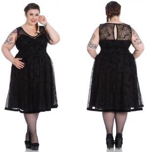 Amarande Dress/Kleid Spinnennetz Plussize Hellbunny