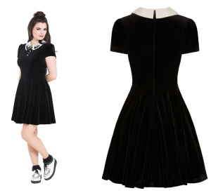 Kurzes Samtkleid Graveyard Mini Dress Hellbunny