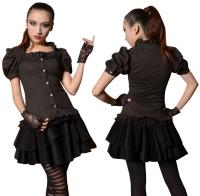 Gothic Girlbluse Pentagramme