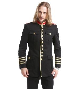 Officier Jacke Pentagramme