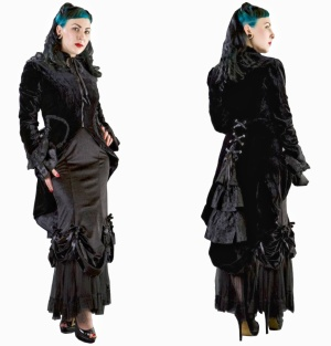 Pirate Coat Samt Burleska Plussize