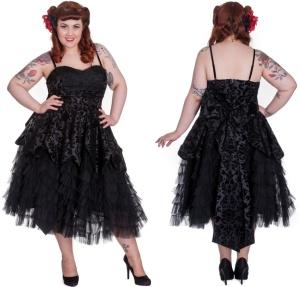 Gothic Kleid Lavintage Hellbunny Plussize