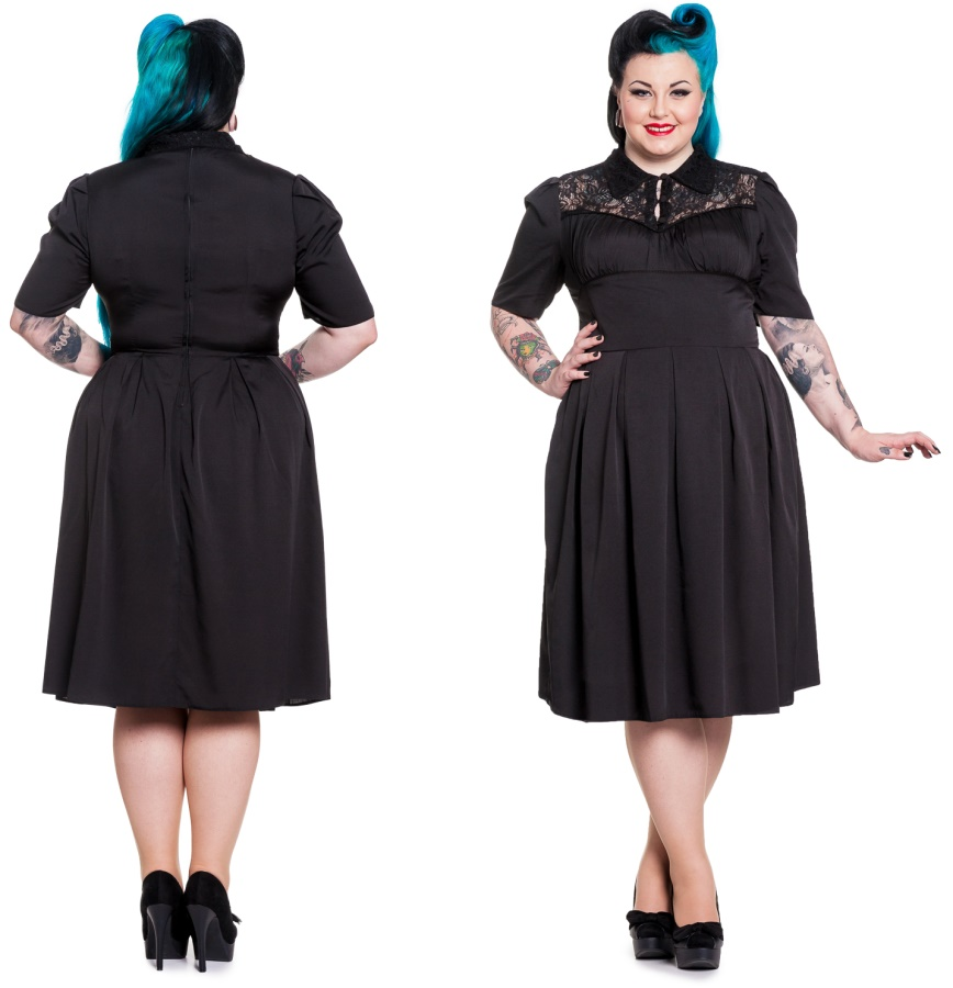 Gothic Dress Connie Plussize Hellbunny