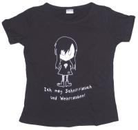 Girl Tshirt Ich mag Schnittlauch und Weintrauben