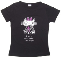 Girl Tshirt I am a nice Person come closer