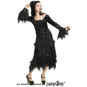 Gothicbluse Samt Sinister
