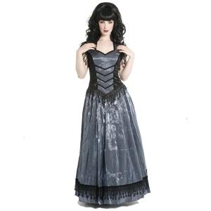 Edles Gothic Kleid lang Sinister