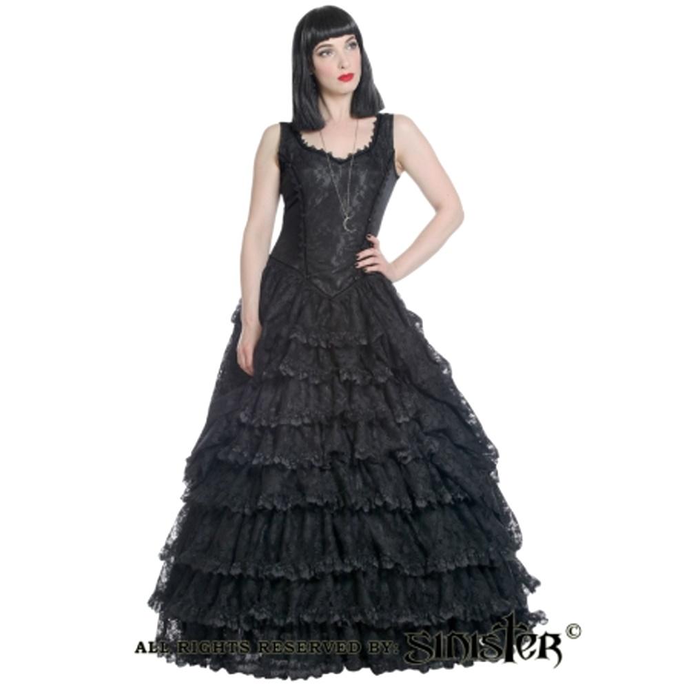 Edles Gothic Kleid lang Sinister - Sinister Kleider - Details ...