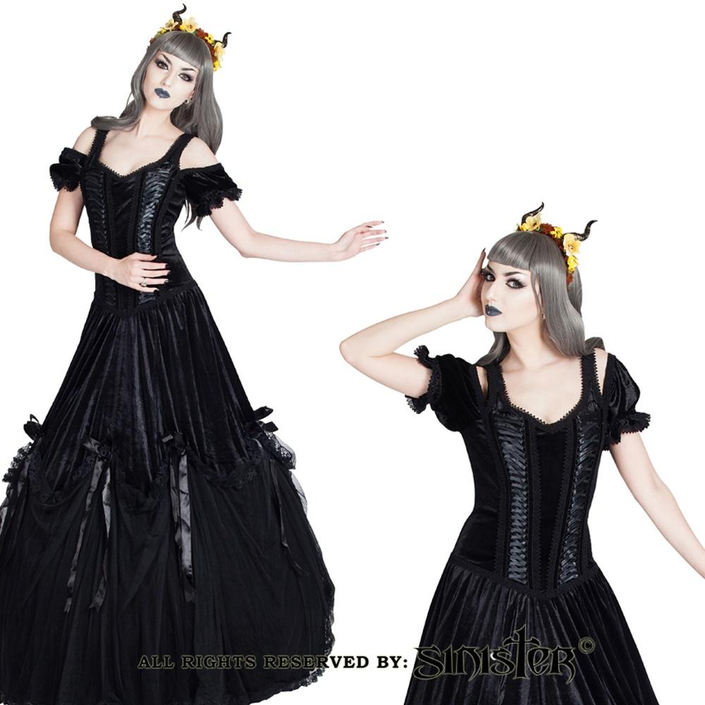 edles gothic kleid lang sinister sinister kleider. Black Bedroom Furniture Sets. Home Design Ideas