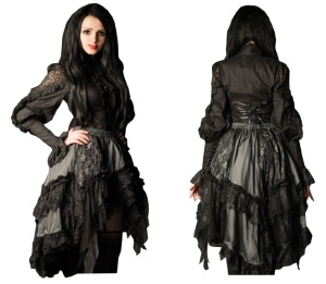 Ruffle Skirt Dracula Clothing