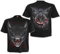 Herren Tshirt Bat Vampire Spiral