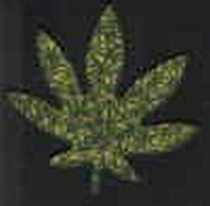 Aufnäher Cannabisblatt
