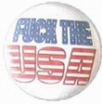 Button Fuck the USA