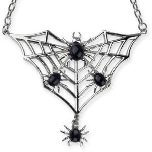 Gothicschmuck Kette Spinnennetz