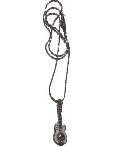 Halskette Guitar Skull